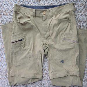 Eddie Bauer Convertible Khaki Sport Outdoor Hiking Pants 33x32